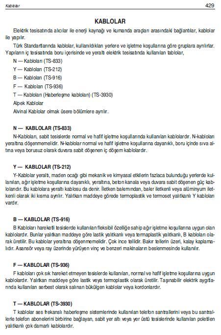 KABLO SEMBOLLERİ