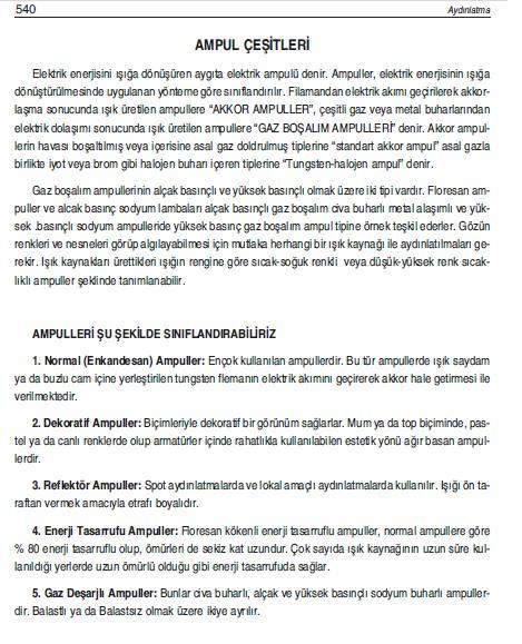 AMPUL ÇEŞİTLERİ