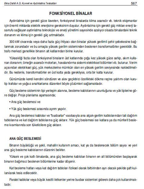 FONKSİYONEL BİNALAR
