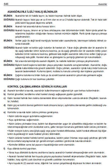 ASANSÖRLERLE İLGİLİ YANLIŞ BİLİNENLER