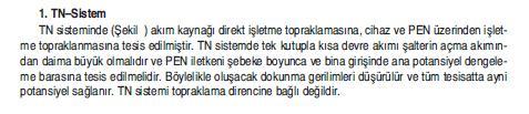 TN-TOPRAKLAMA SİSTEMİNİN ÖZELLİKLERİ